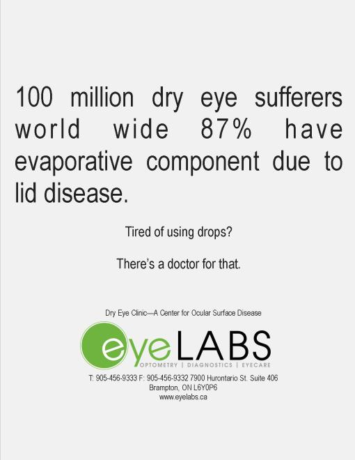 Forget the app - There's a doctor for that! eyeLABS dry eye clinic